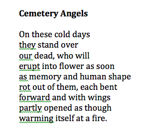 Cemetary Angels by Galway Kinnell