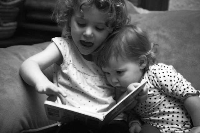 our girls reading