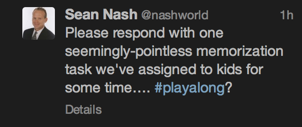 Tweet from Nashworld